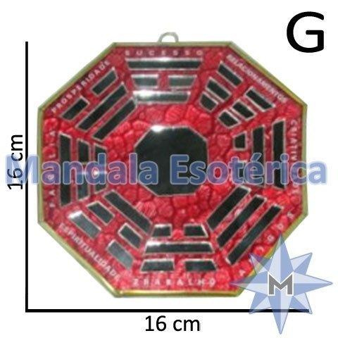 Bá-Gua Espelhado Vermelho - 16 cm