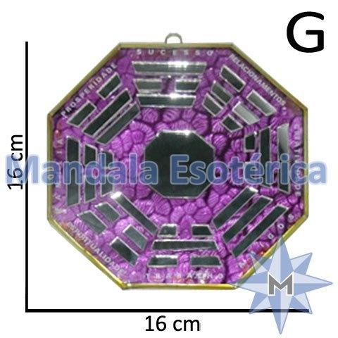 Bá-Gua Espelhado Lilás - 16 cm