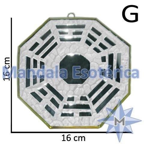 Bá-Gua Espelhado Branco - 16 cm