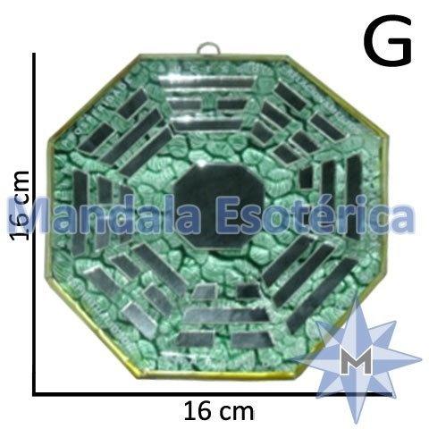 Bá-Gua Espelhado Verde - 16 cm