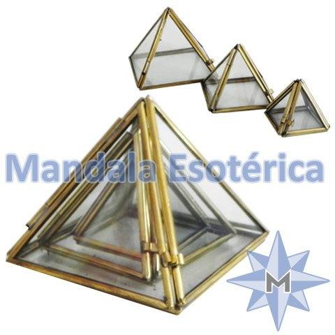 Trio de Piramide de vidro