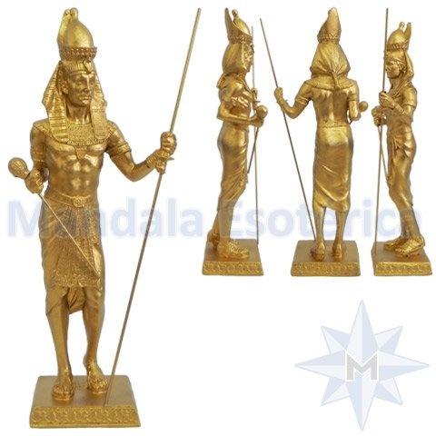Faraó Rei do Egito Dourado Cajado e Cetro Real