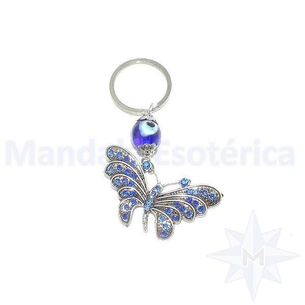 Chaveiro Borboleta Azul