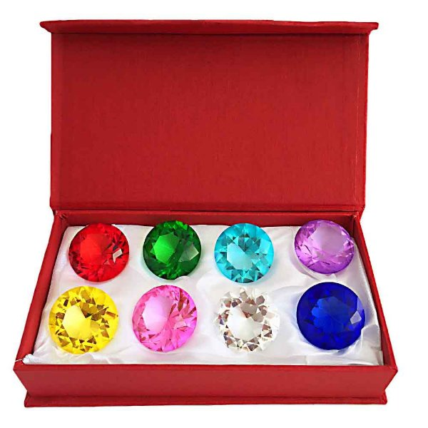 Kit com 8 Diamantes Coloridos - P