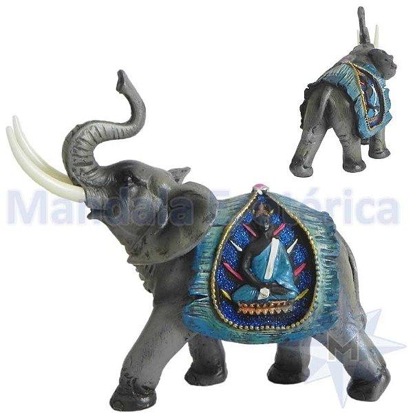 Elefante com Manto Azul de Buda B
