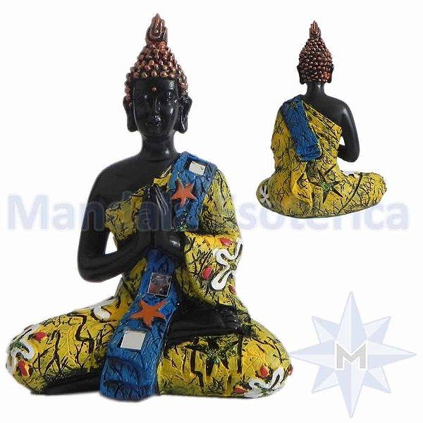 Buda em Oração Amarelo