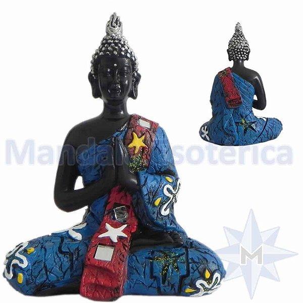 Buda em Oração Azul