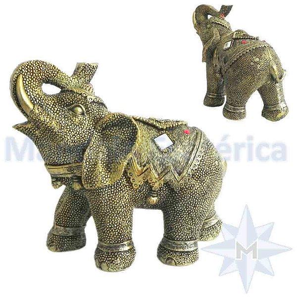 Elefante Médio Escamado Dourado