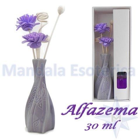 Aromatizador com flor e varetas com perfume de Alfazema