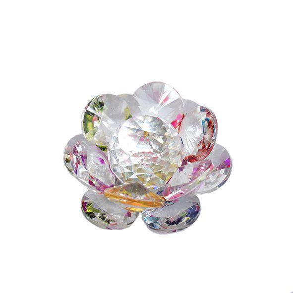 Flor de Lótus de Cristal Pétalas Redondas - Dois Modelos