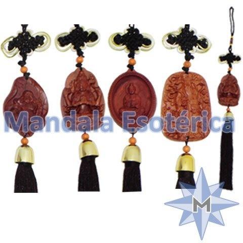 Talismã com pendulo em madeira kit com 4