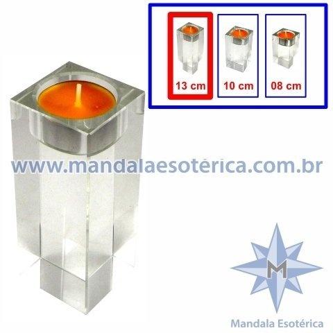 CASTIÇAL DE VIDRO RETANGULAR GRANDE - JA-04-3