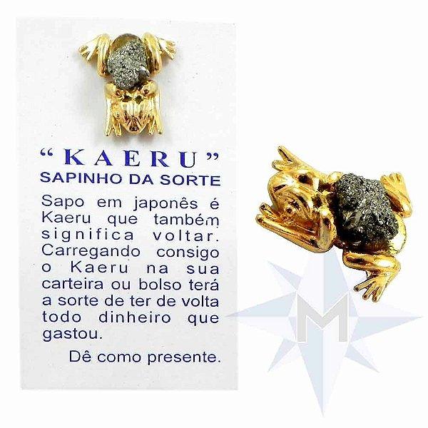 Amuleto Kaeru com Pirita - Sapinho da Sorte