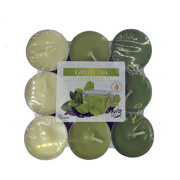Vela T'Light Aroma Chá Verde com 18 Unidades