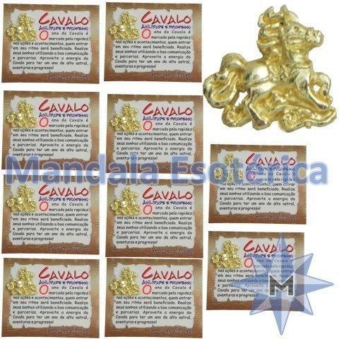 Amuleto Cavalo pacote com 10