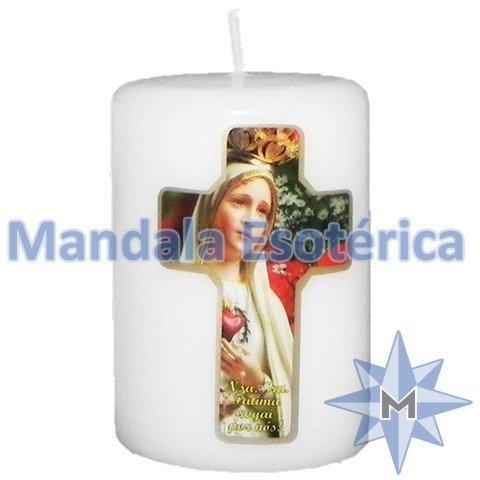 Vela votiva com Nossa Senhora de Fátima