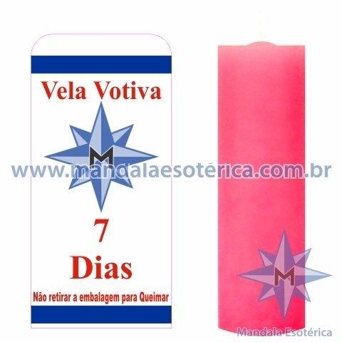 Vela Votiva 7 dias Rosa