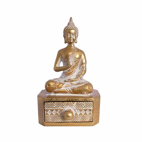 Porta Joias Buda Dourado