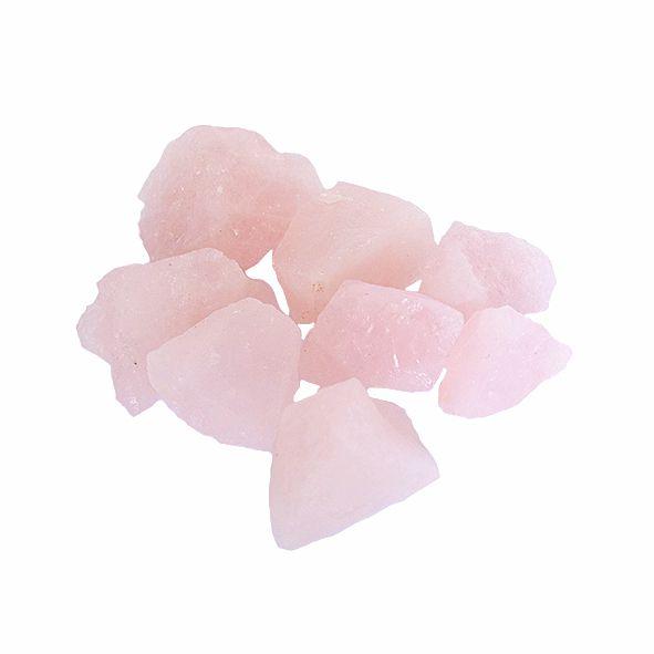 Pedra Quartzo Rosa Bruta - Pacote 200g
