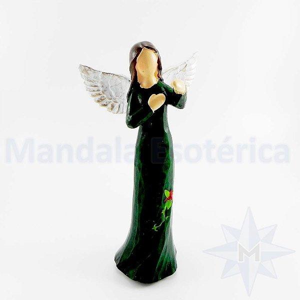 Anjo sem Rosto Vestido Verde