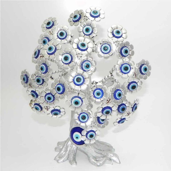Arvore Tronco com Olho Grego Pequenas Flores E