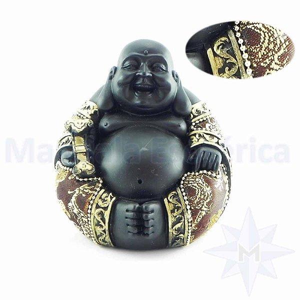 Buda Bolinha Preto e Marrom