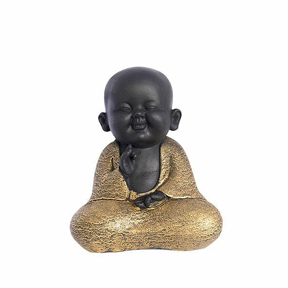 Monge Preto e Dourado - Pequeno