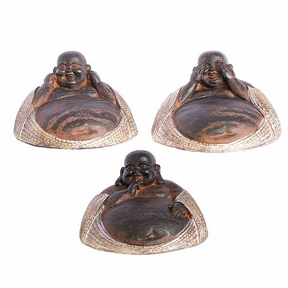 Trio Buda Sorridente da Sabedoria