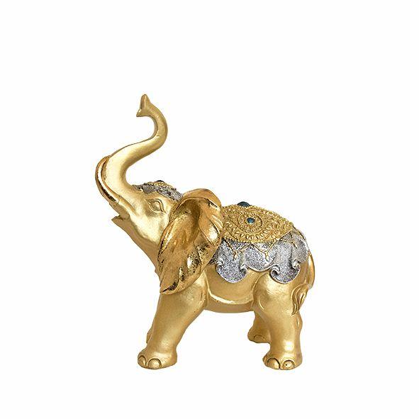 Elefante Dourado com Manto - Médio