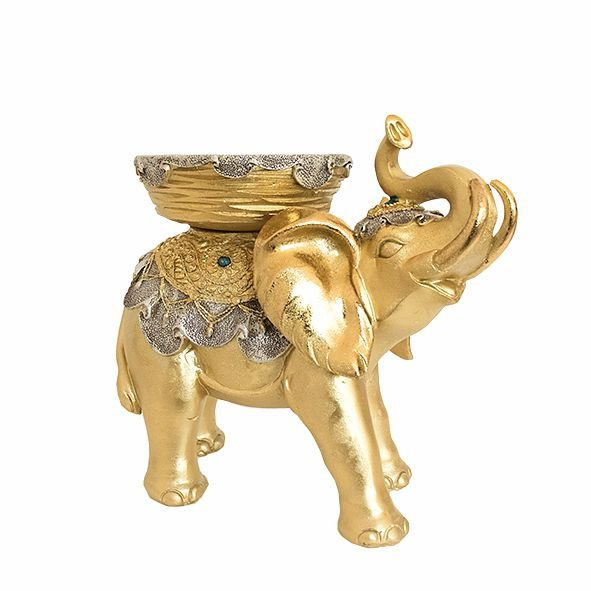 Elefante Dourado com Castiçal