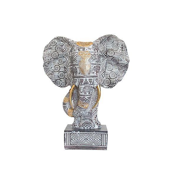 Busto Elefante Cinza - Pequeno