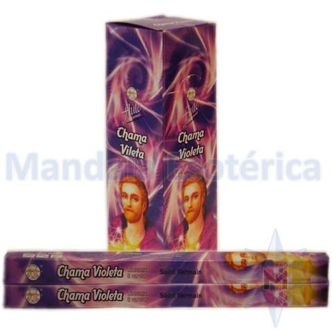 Incenso Flute Box Chama Violeta - Saint Germain