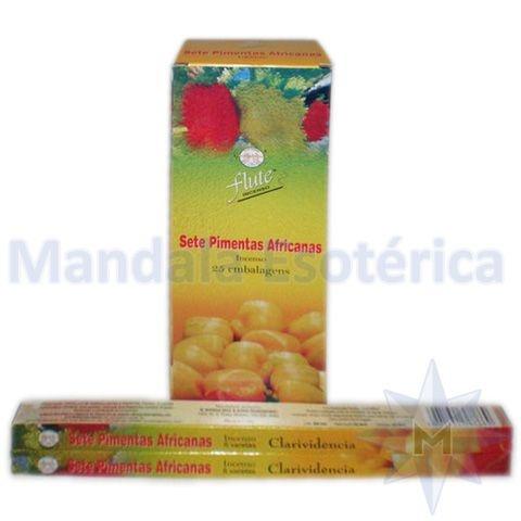 Incenso Flute Box no Aroma de 7 Pimentas Africanas