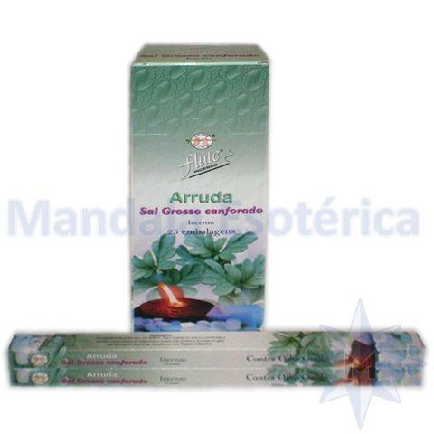 Incenso Flute Box no Aroma de Arruda e Sal Grosso Canforado