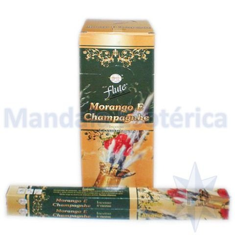 Incenso Flute Box no Aroma de Morango e Champagnhe