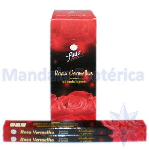 Incenso Flute Box no Aroma de Rosa Vermelha