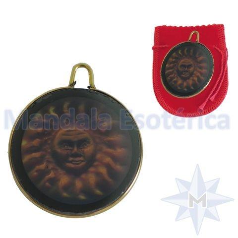 Pingente medalha 3D Sol