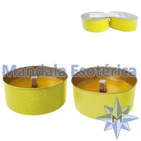 Vela citronela com 2 PV-Amarela