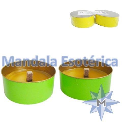 Vela citronela com 2 PV-Verde