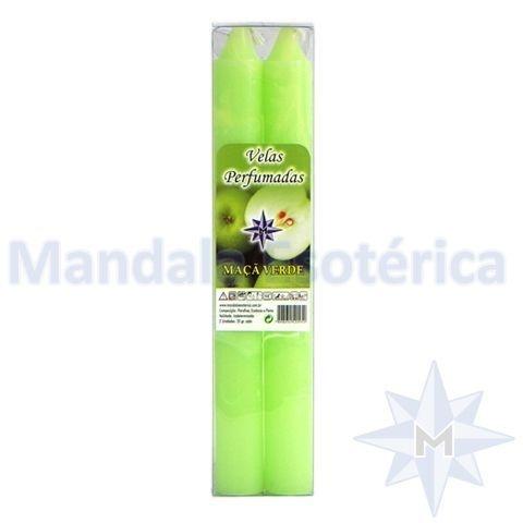 Vela Perfumada no Aroma de Maçã Verde Caixinha com 2 Unidades