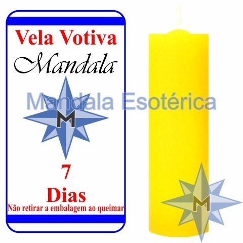 Vela Votiva 7 dias Amarela