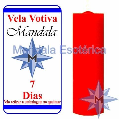 Vela Votiva 7 dias Vermelha