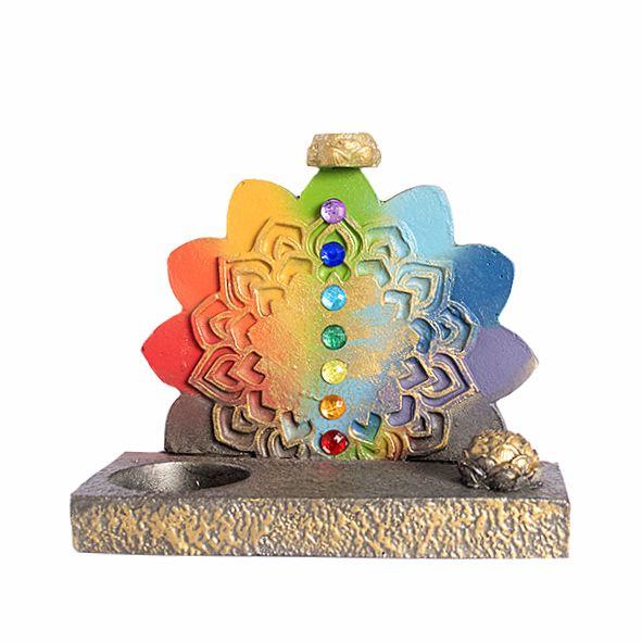 Incensário e Porta Vela 7 Chakras