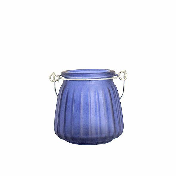 Castiçal de Vidro Fosco com Alça - Diversas Cores