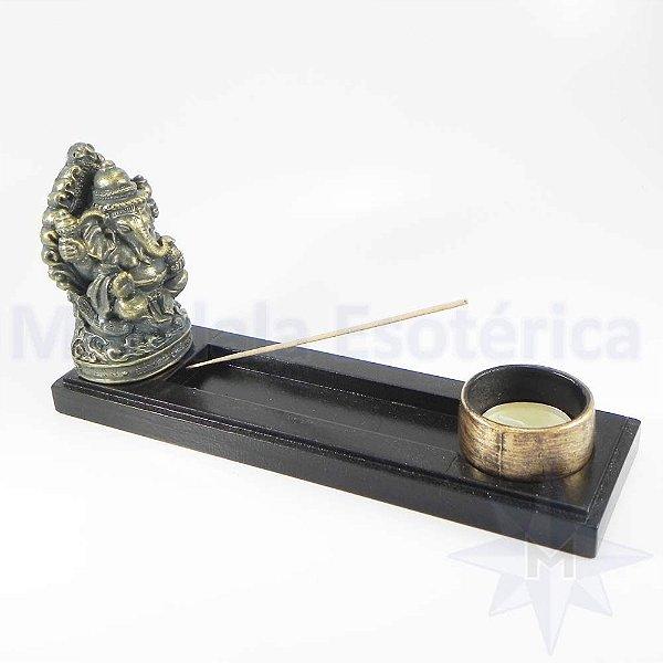 Incensário Ganesha e Porta Velas