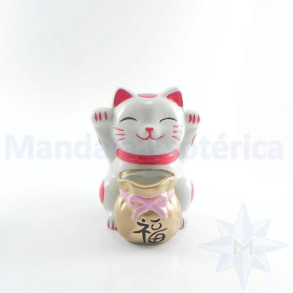 Maneke Neko 2 Mãozinhas Cofre Porcelana