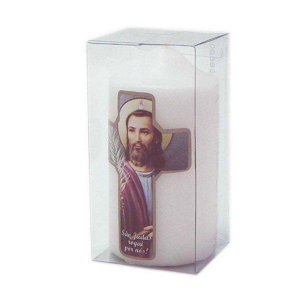 Vela de devoção Cruz São Judas Tadeu 140g
