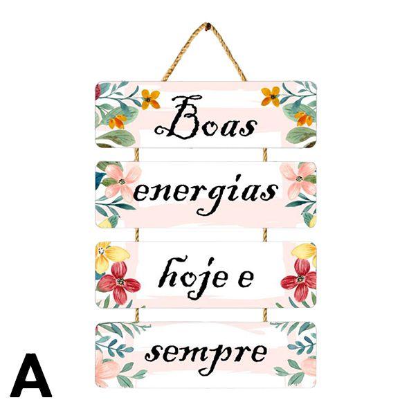 Placas Decorativas com Frases - Diversos Modelos