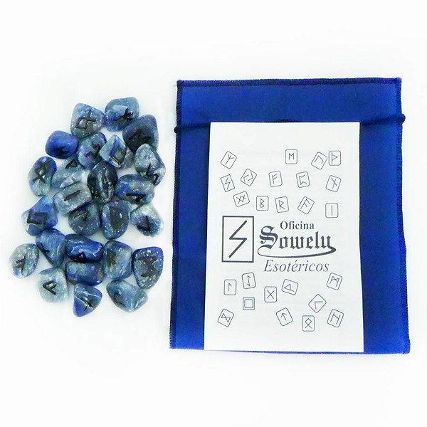 Kit de Runas de Quartzo Azul