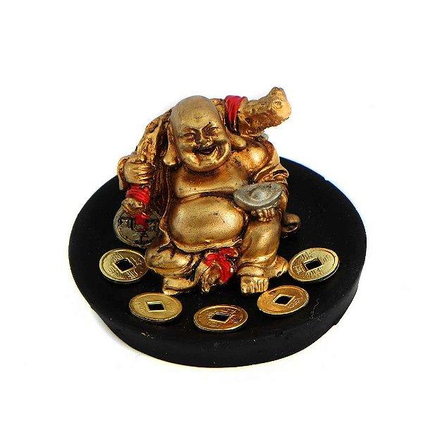 Buda Sorridente com Ritual da Riqueza M